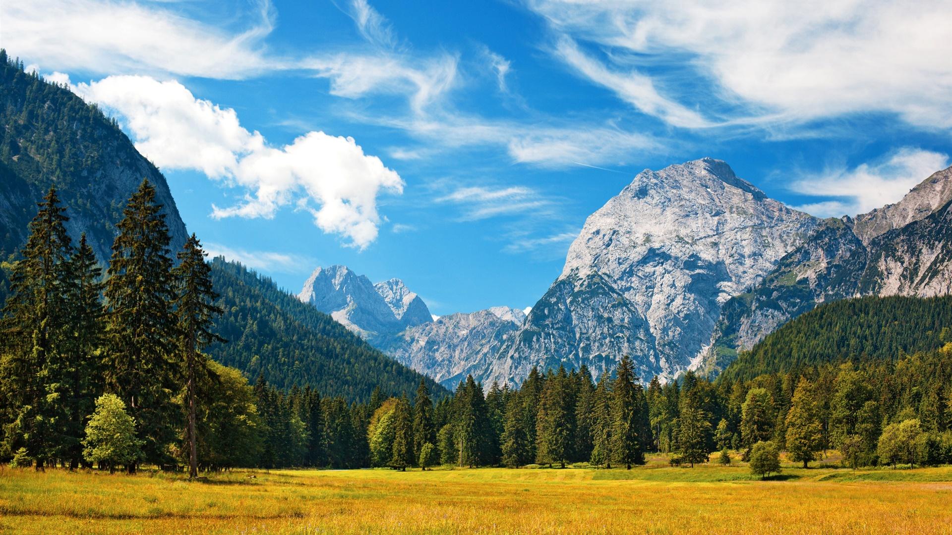 アルプス 秋 青い空 雲 森 草 デスクトップの壁紙 19x1080 壁紙をダウンロード Ja Hdwall365 Com