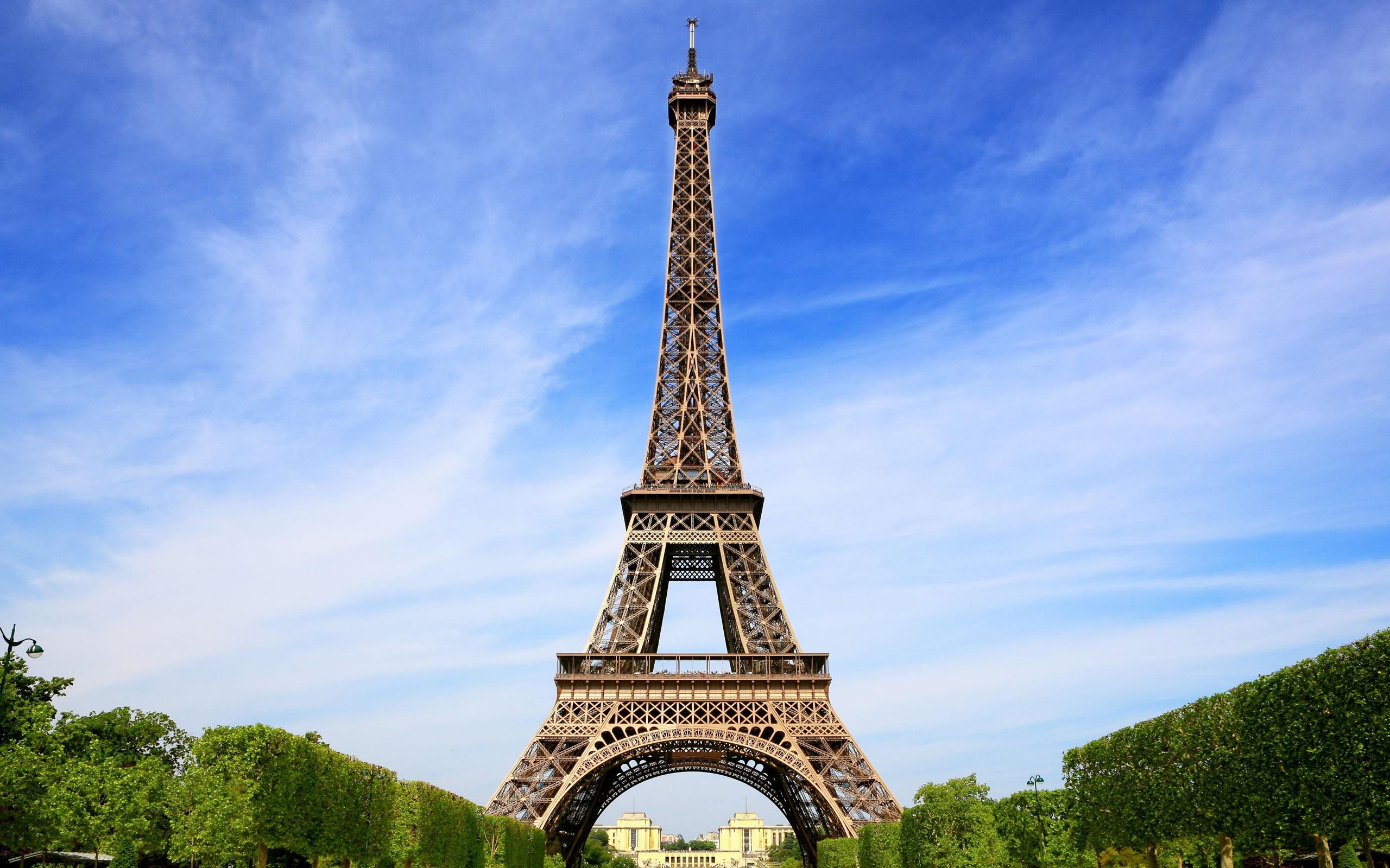 エッフェル塔 パリ フランス 青空 デスクトップの壁紙 2560x1600 壁紙をダウンロード Ja Hdwall365 Com