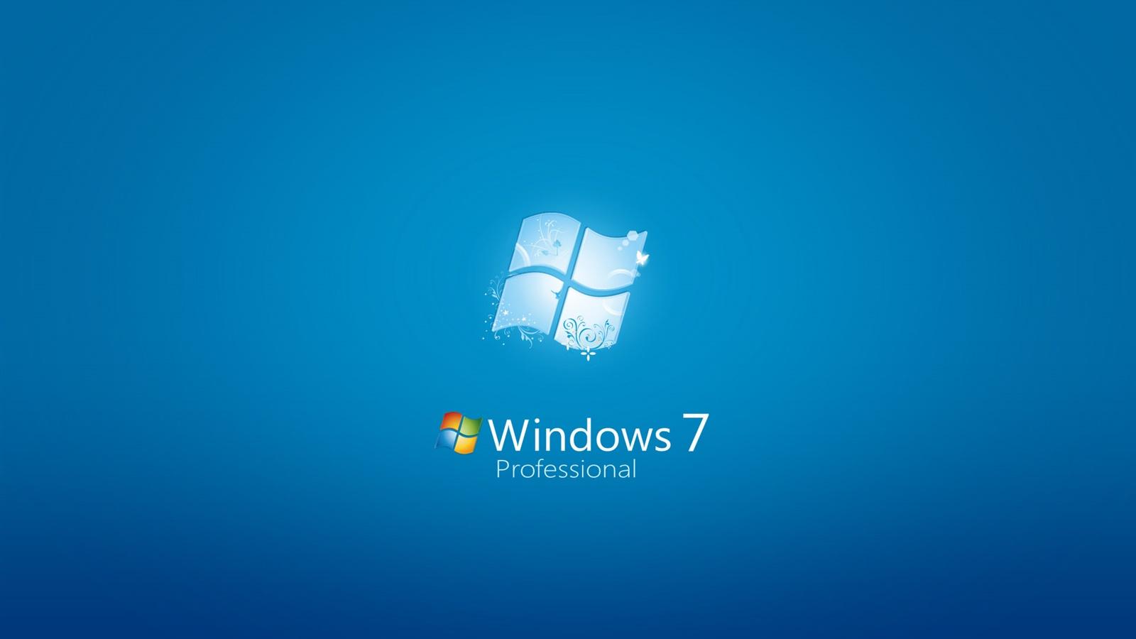 Windows 7のプロフェッショナル 青の背景 デスクトップの壁紙 1600x900 壁紙をダウンロード Ja Hdwall365 Com