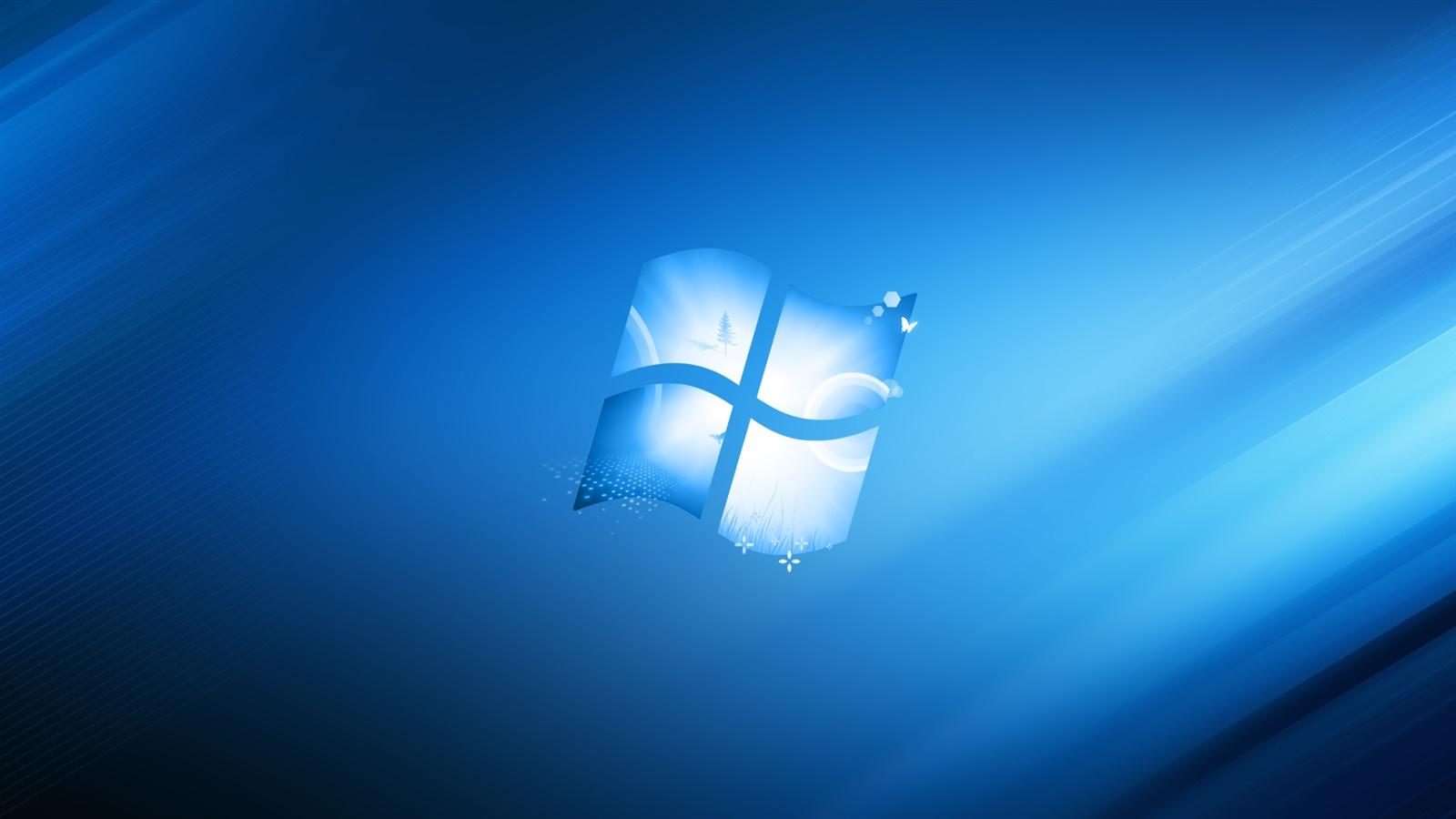 Windowsロゴ ブルー スタイル 背景 デスクトップの壁紙 1600x900 壁紙をダウンロード Ja Hdwall365 Com