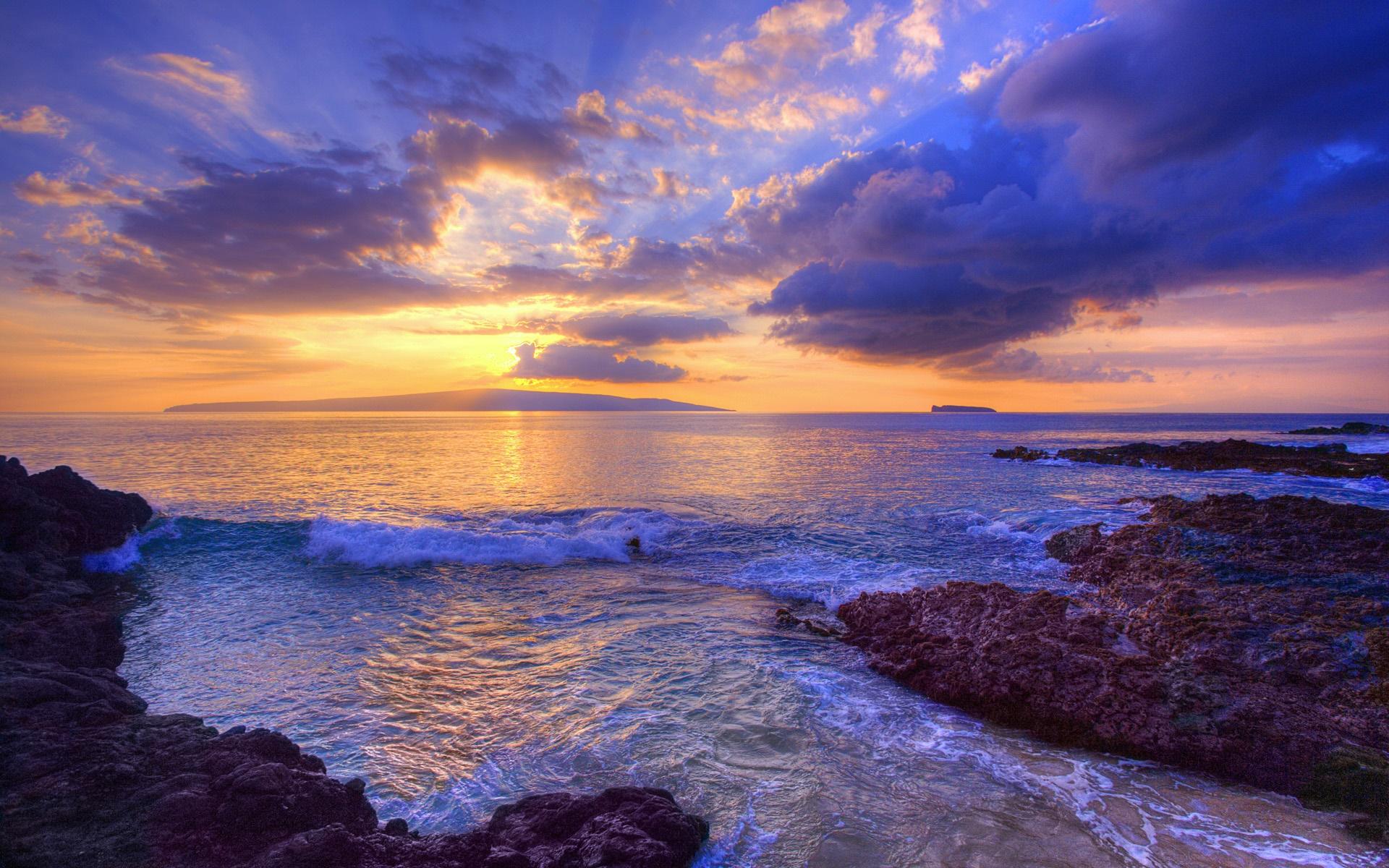 サンセット 波 シークレットビーチ マウイ島 ハワイ アメリカ デスクトップの壁紙 19x10 壁紙をダウンロード Ja Hdwall365 Com