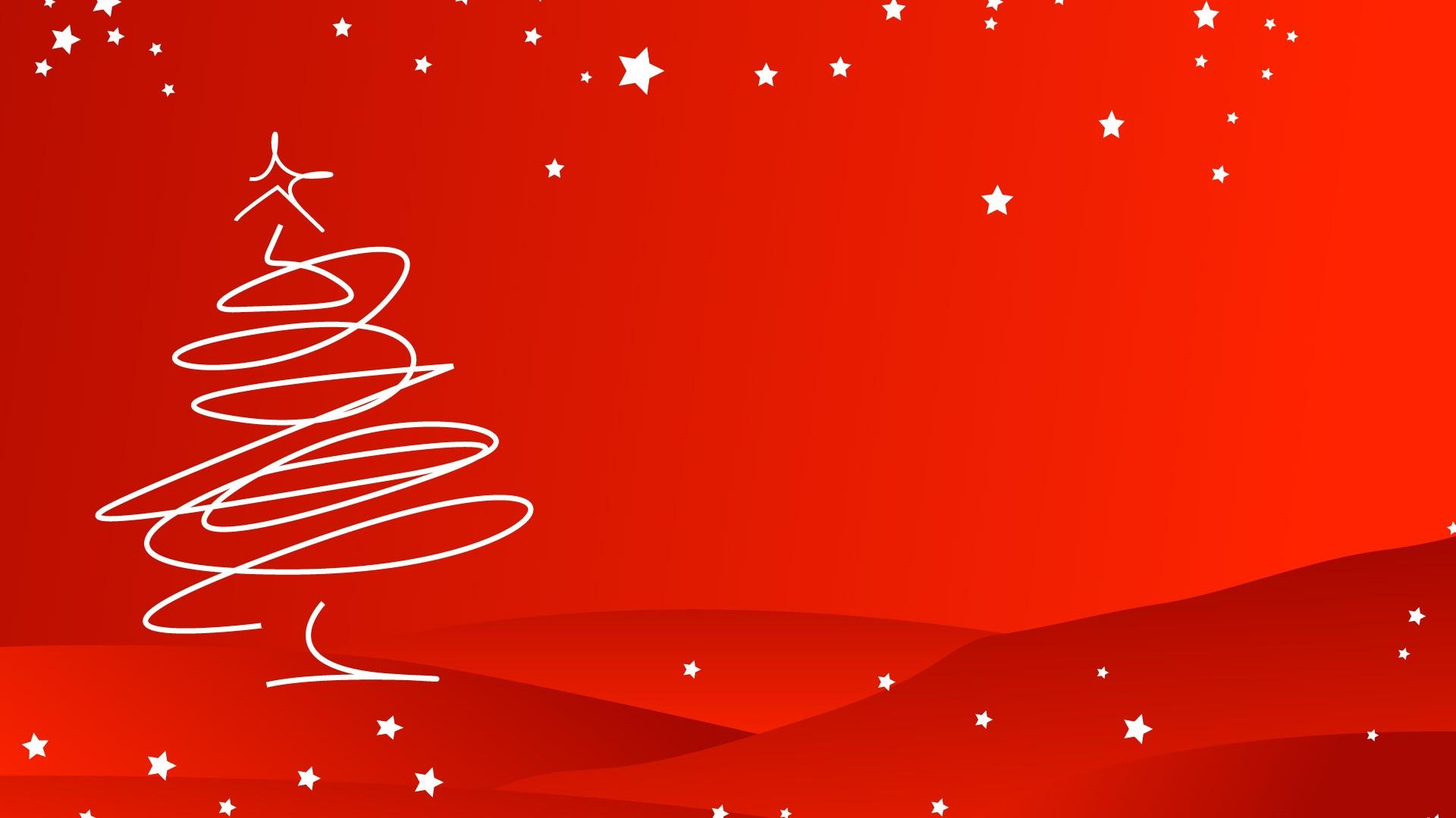 クリスマスをテーマに シンプルなスタイル 木 赤 背景 デスクトップの壁紙 19x1080 壁紙をダウンロード Ja Hdwall365 Com