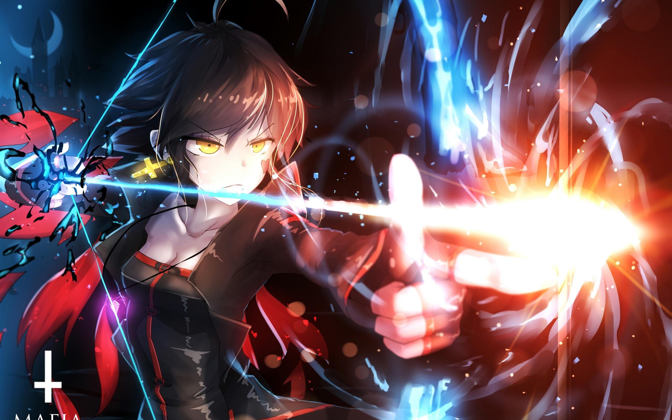 アニメの女の子の使用の弓 魔法 光 デスクトップの壁紙 2560x1600 壁紙をダウンロード Ja Hdwall365 Com