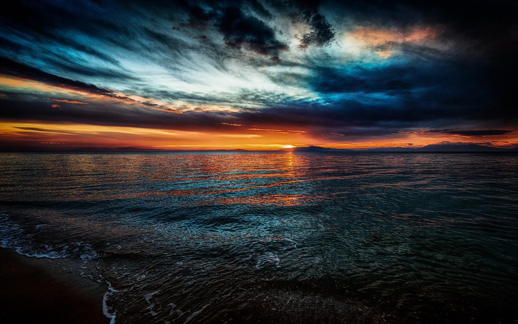美しい風景 夕日 海 波 雲 夕暮れ デスクトップの壁紙 1680x1050 壁紙をダウンロード Ja Hdwall365 Com