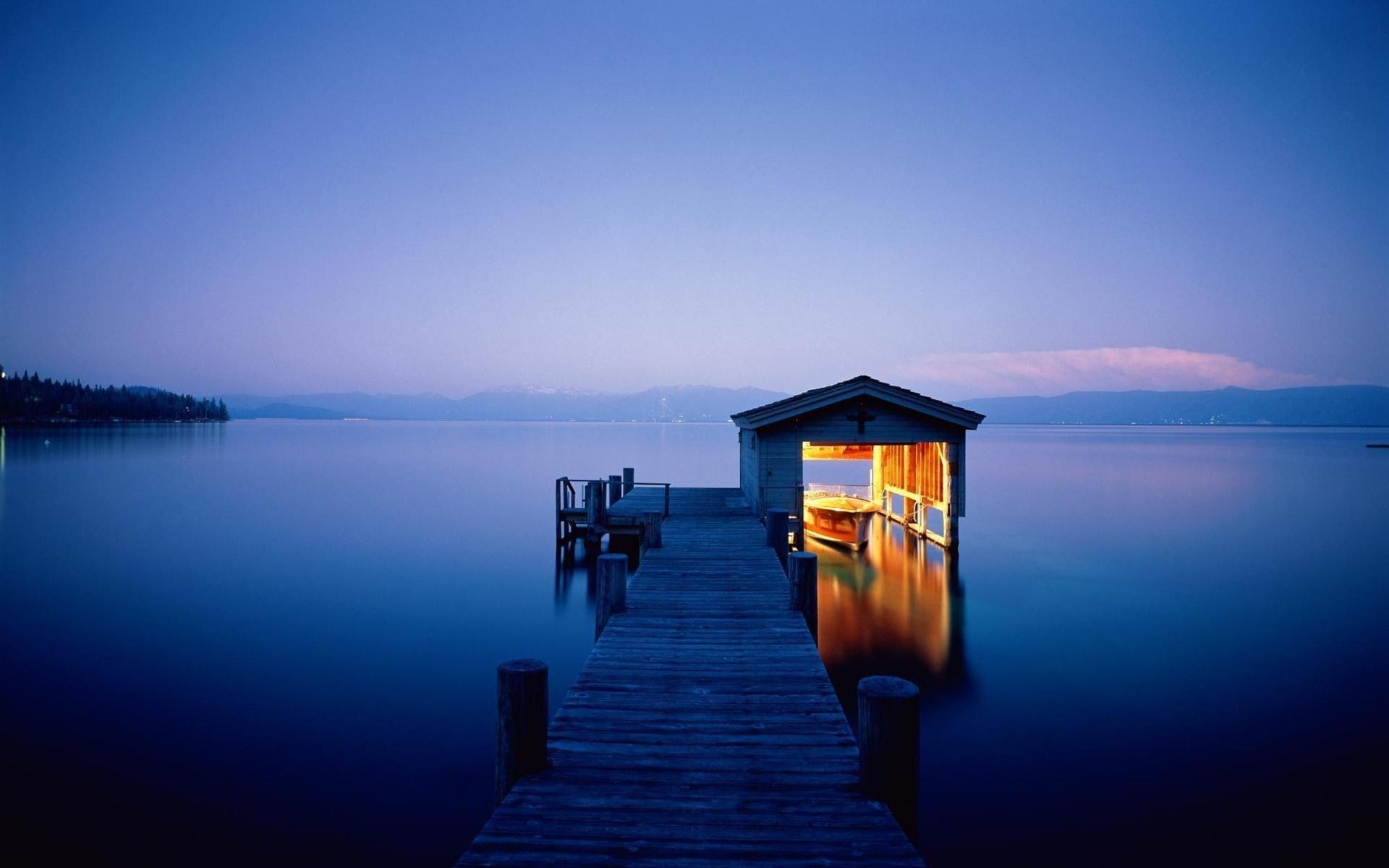 夜 湖 ドック 家 ボート ライト デスクトップの壁紙 19x10 壁紙をダウンロード Ja Hdwall365 Com