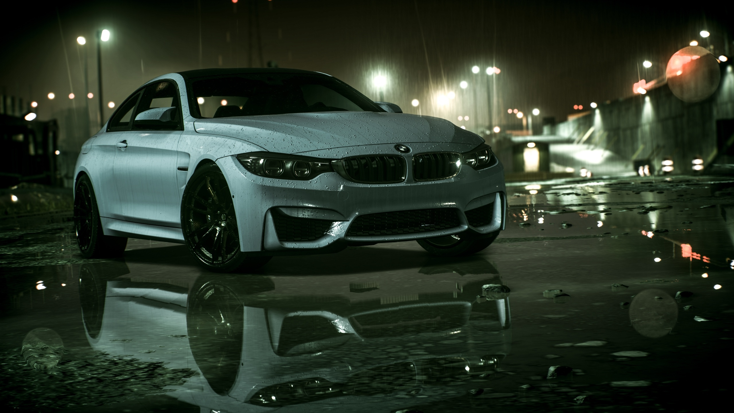 BMW車、雨、Need For Speed 2560x1440 壁紙 背景画像