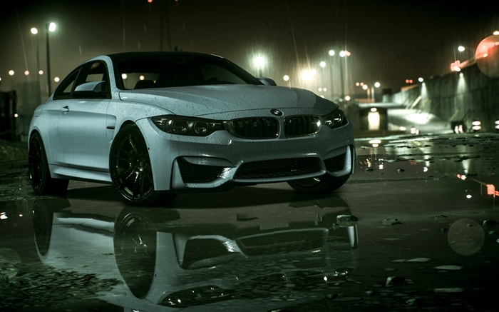 BMW車、雨、Need For Speed 壁紙 ピクチャー